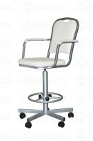 Кресло лабораторное на винтовой опоре КР-02-1