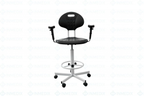 Кресло лабораторное полиуретановое с подлокотниками КР-11-В