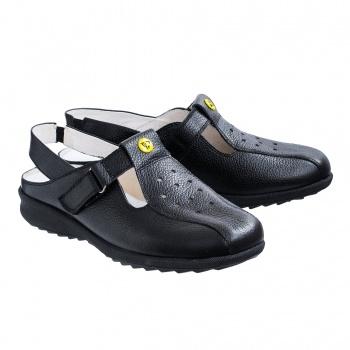 Антистатические кожаные сандалеты 8210Л